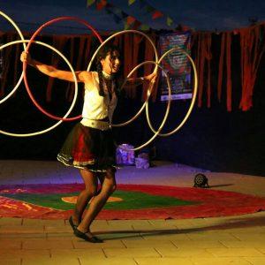 El hula hoop en el circo