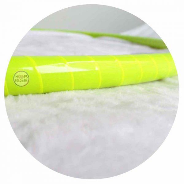 Hula hoop amarillo neón con cinta en colombia