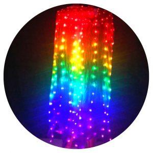 abanicos LED multicolor bogota
