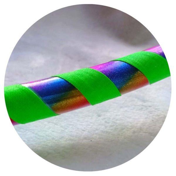 hula hoop verde arcoiris en colombia